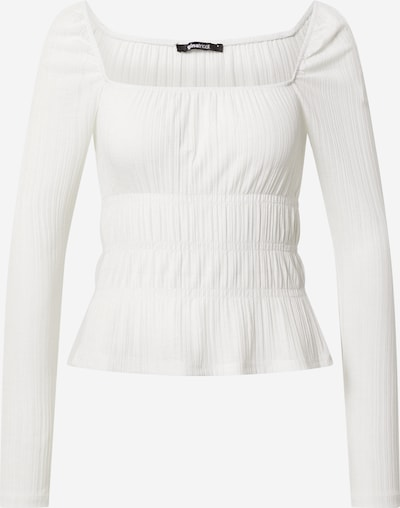 Gina Tricot Shirt 'Anna' in de kleur Wit, Productweergave