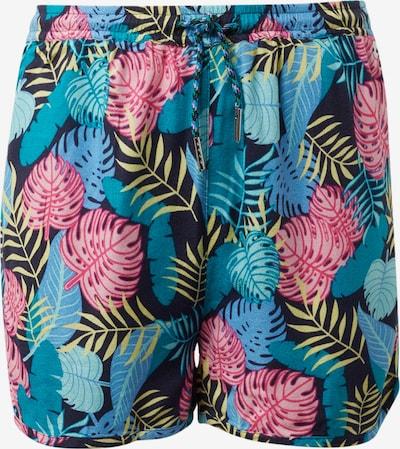 TOM TAILOR Shorts in marine / türkis / zitrone / pink, Produktansicht