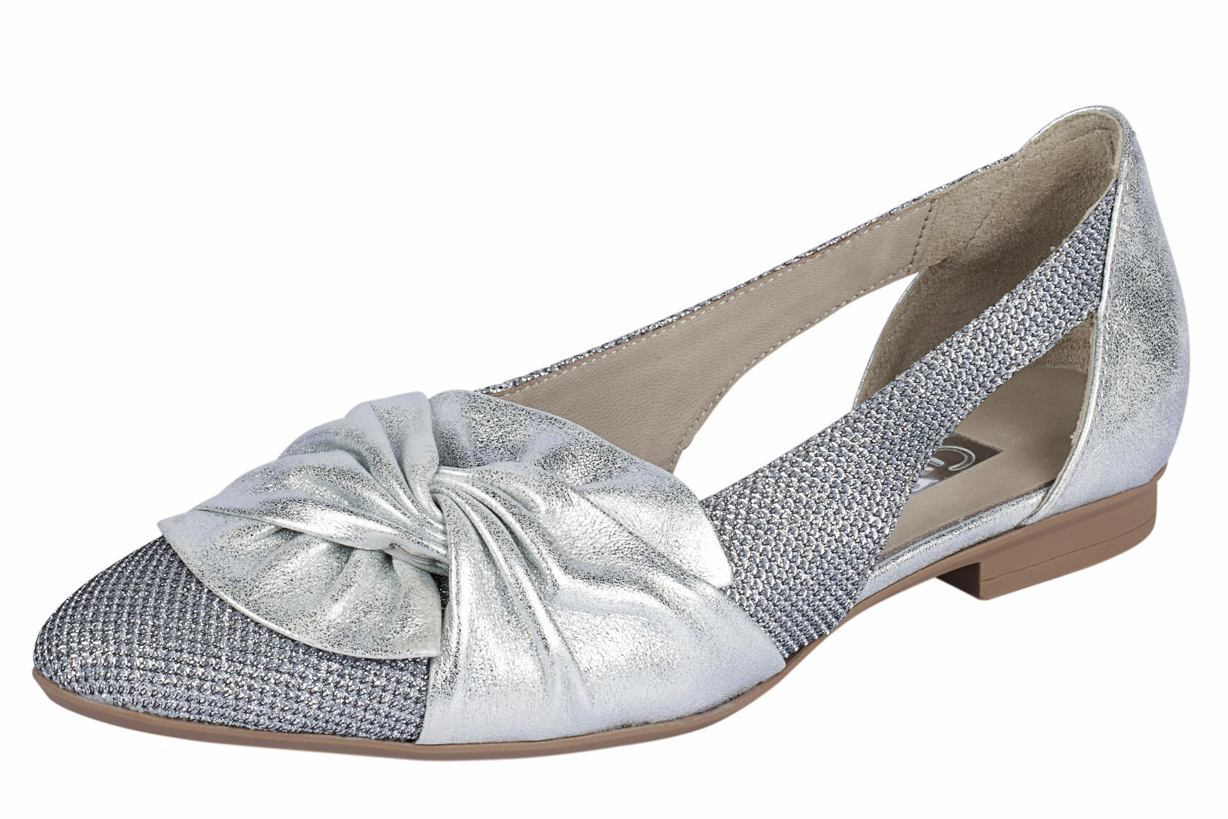 Gabor Silber Slipper Im Metallic In look hdxCtQrs
