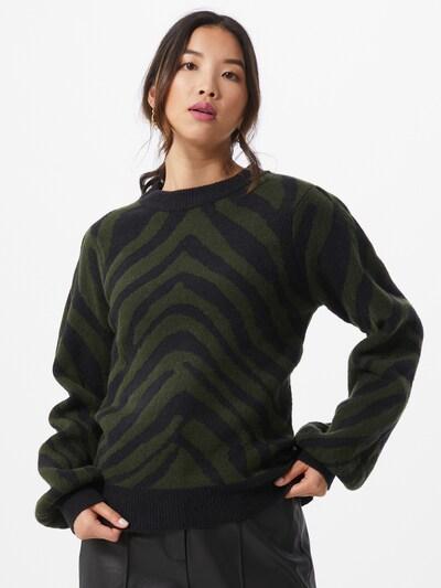 Rut & Circle Pullover 'Zelde' in grün / schwarz, Modelansicht
