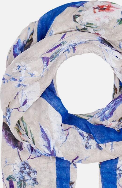 HALLHUBER Schal mit Exotic-Print und Streifen