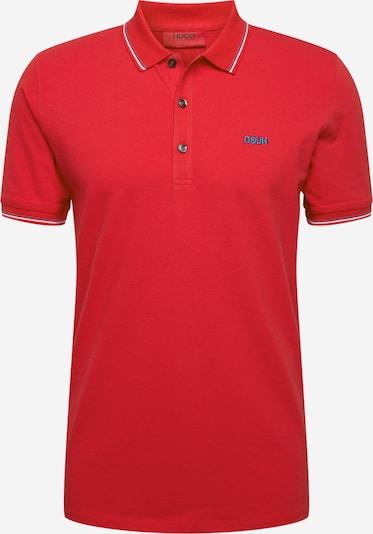 HUGO Koszulka 'Dinoso203' w kolorze niebieski cyjan / czerwonym: Widok z przodu