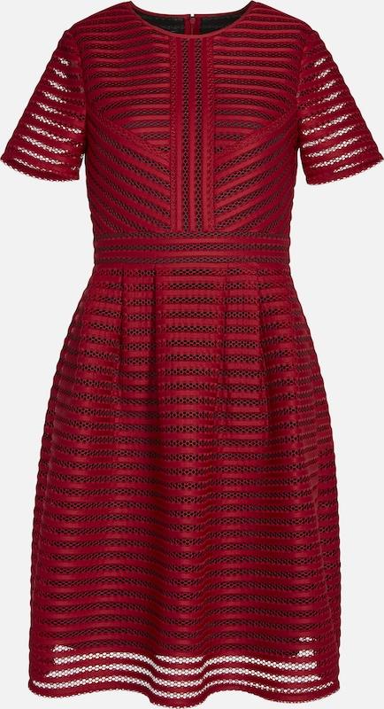 APART Kleid aus Lochmuster in feuerrot   schwarz  Große Preissenkung