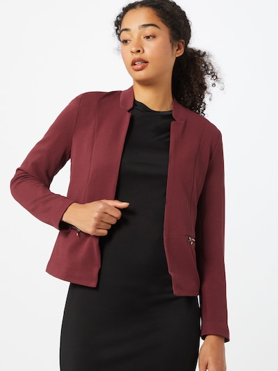 ONLY Blazer 'Maddy-Anna' in bordeaux, Modelansicht