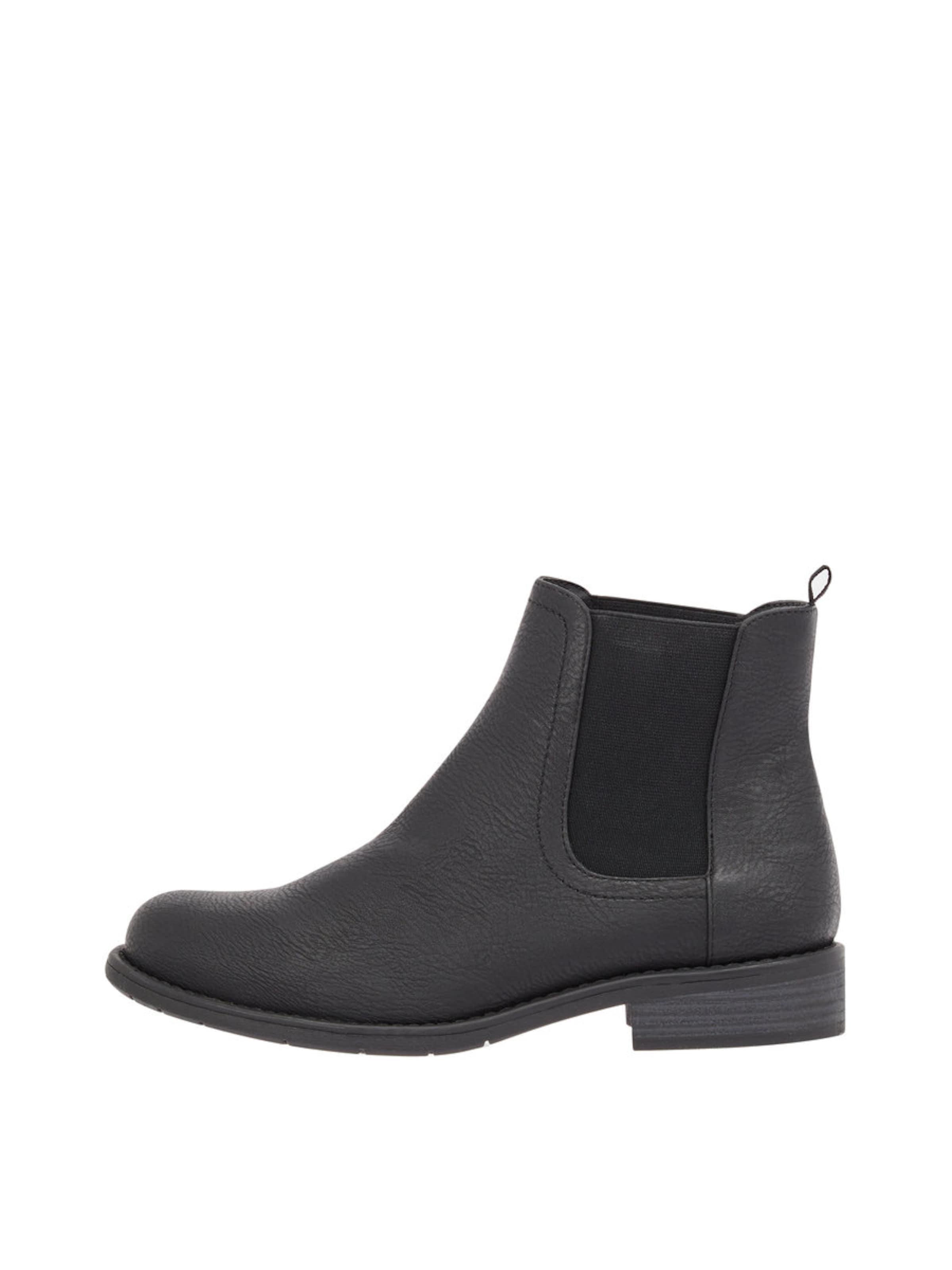 Ankle Boots Bianco 'chelsea' In Schwarz 8nPkXOw0