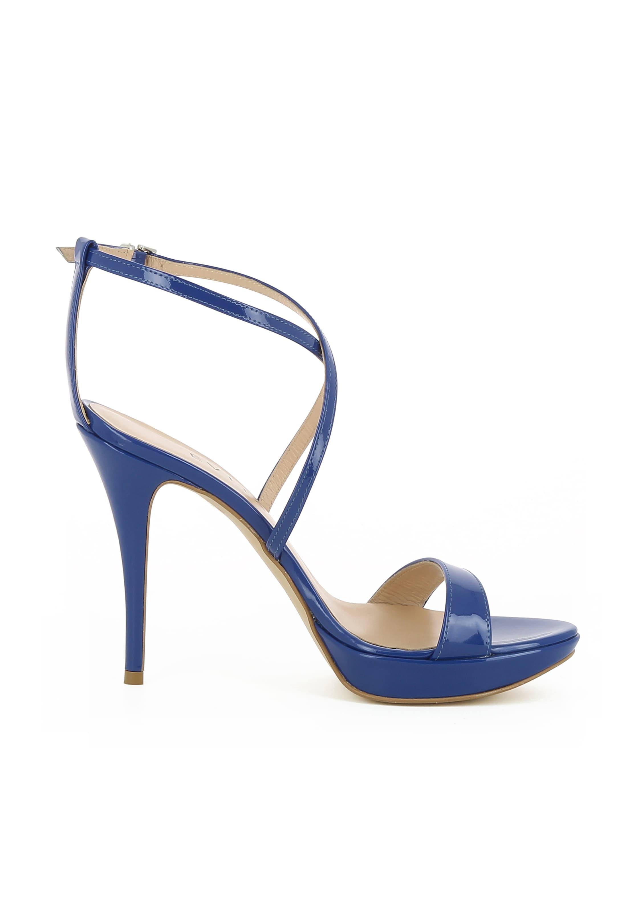 'valeria' Lanières Evita Sandales En À Bleu PkXiZu