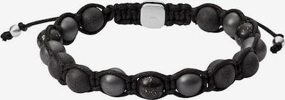 FOSSIL Armband 'Vintage' in silbergrau / schwarz, Produktansicht