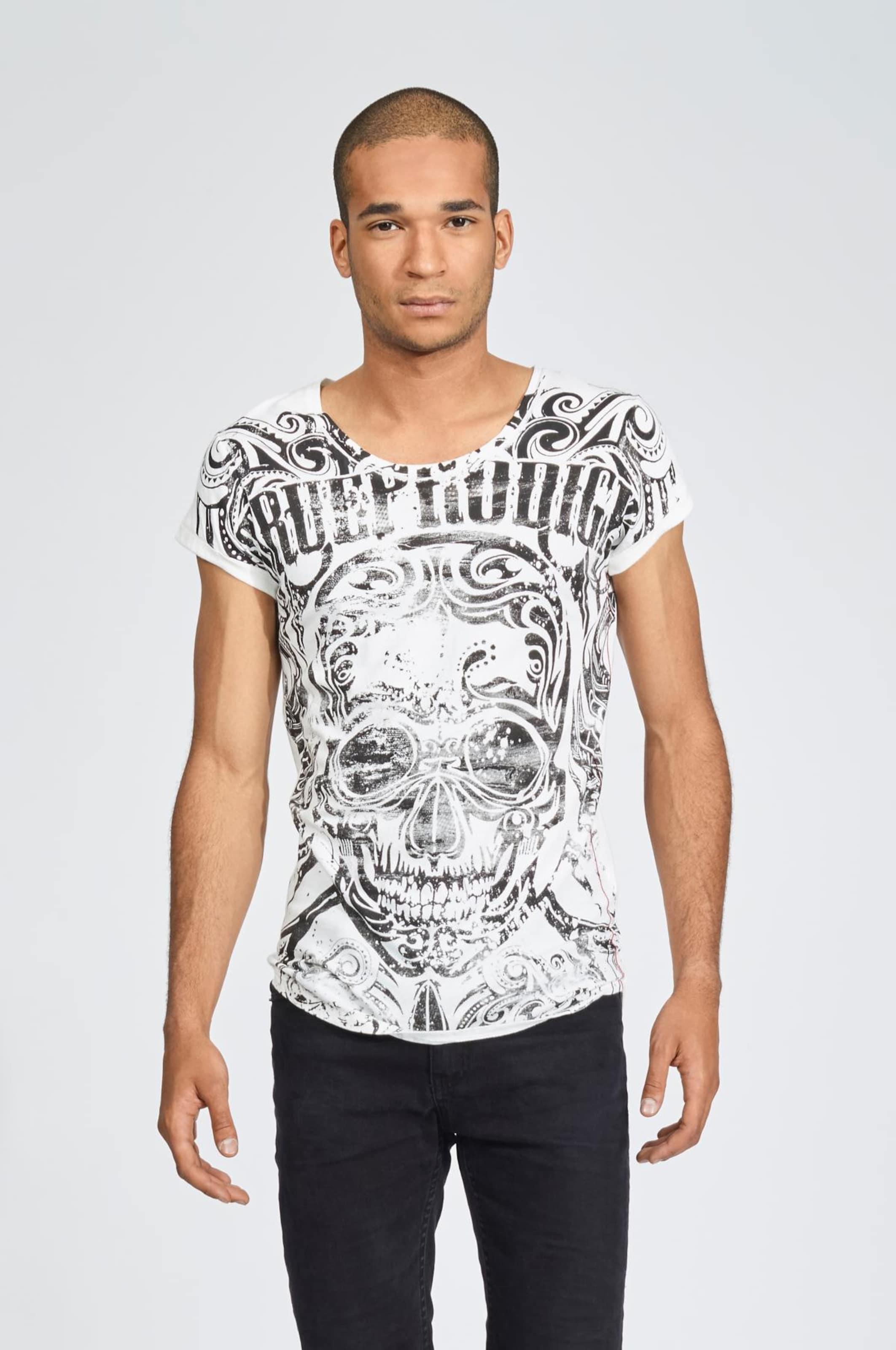 SchwarzNaturweiß In 'black shirt Trueprodigy Skull' T qSzMVGUp