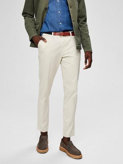 SELECTED HOMME Chino kalhoty - bílá, Model/ka