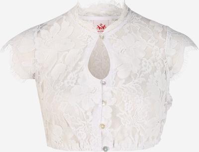 SPIETH & WENSKY Blouse folklorique 'Grimaldi' en blanc, Vue avec produit