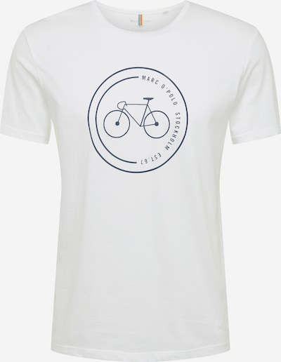 Marc O'Polo Shirt 'Organic' in schwarz / weiß, Produktansicht