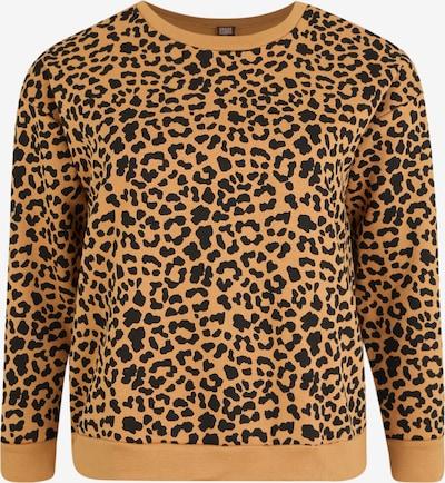 Urban Classics Curvy Sweatshirt 'Ladies' in braun / schwarz, Produktansicht