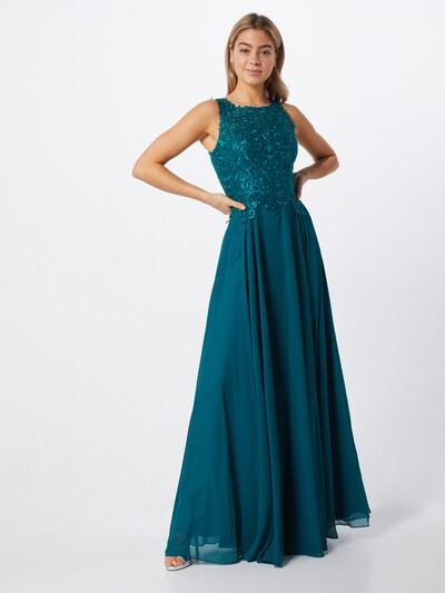 LUXUAR Kleid in smaragd, Modelansicht