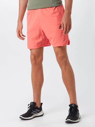 ADIDAS PERFORMANCE Sportbroek in de kleur Zalm roze / Zwart: Vooraanzicht