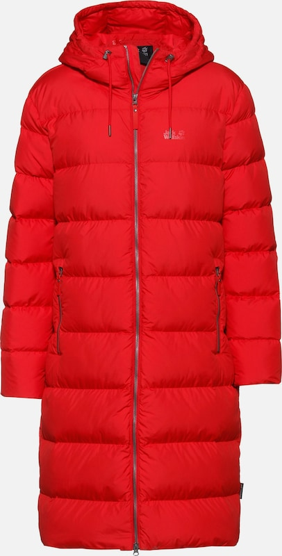 JACK WOLFSKIN Mantel 'Crystal Palace' in rot: Frontalansicht
