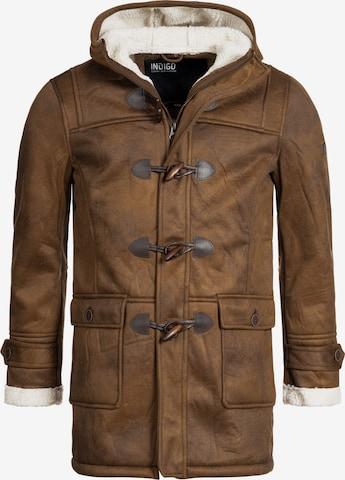 Manteau d'hiver 'Calshot' INDICODE JEANS en marron