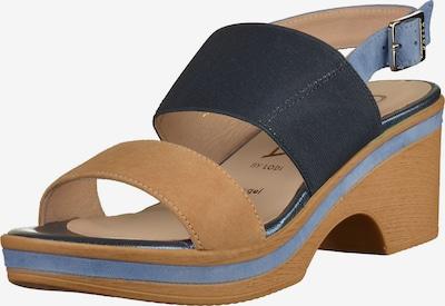 GADEA Sandalen in nachtblau / taubenblau / apricot, Produktansicht