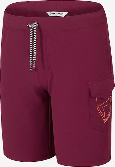 ZIENER Shorts 'Nisaki' in beere / orange, Produktansicht
