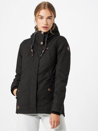 Ragwear Winterjacke 'Monade' in schwarz: Frontalansicht