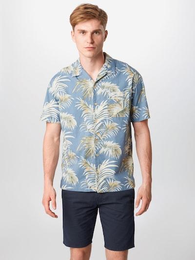 JACK & JONES Overhemd 'Resort' in de kleur Navy / Mosterd / Groen / Wit: Vooraanzicht