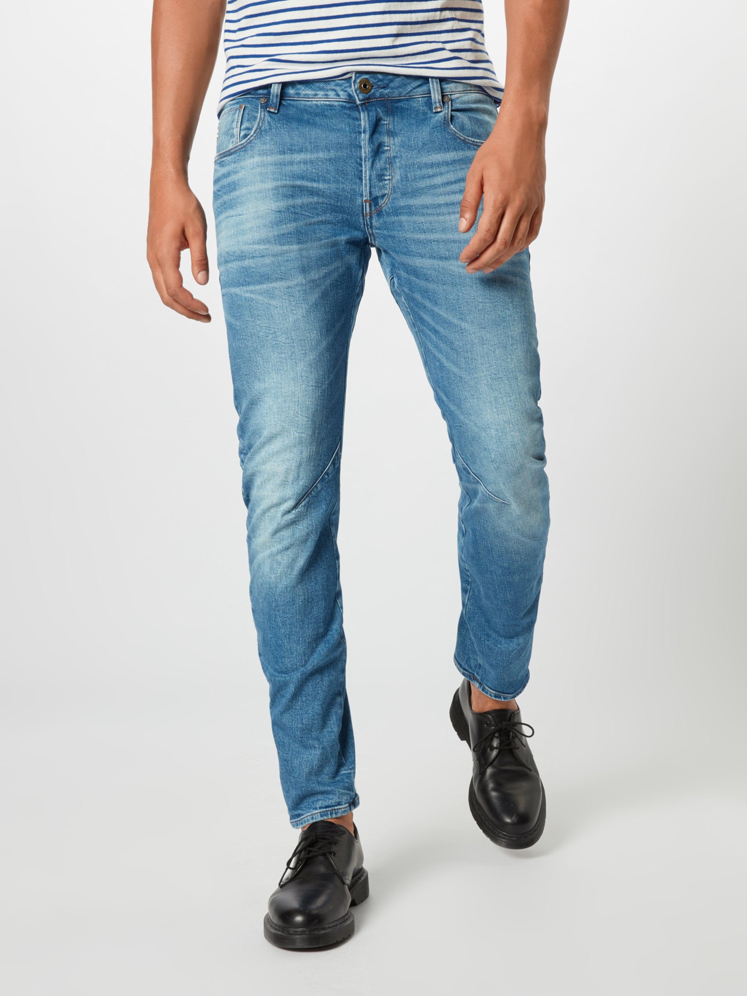 'arc star In Blue Slim' G Raw Jeans 3d Denim mn0vwON8
