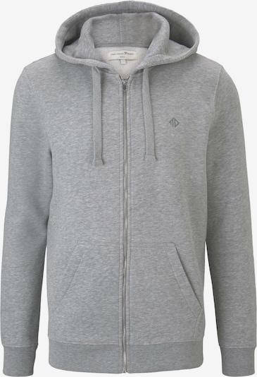 TOM TAILOR DENIM Strick & Sweatshirts Sweatjacke mit Reflekt-Print in grau, Produktansicht