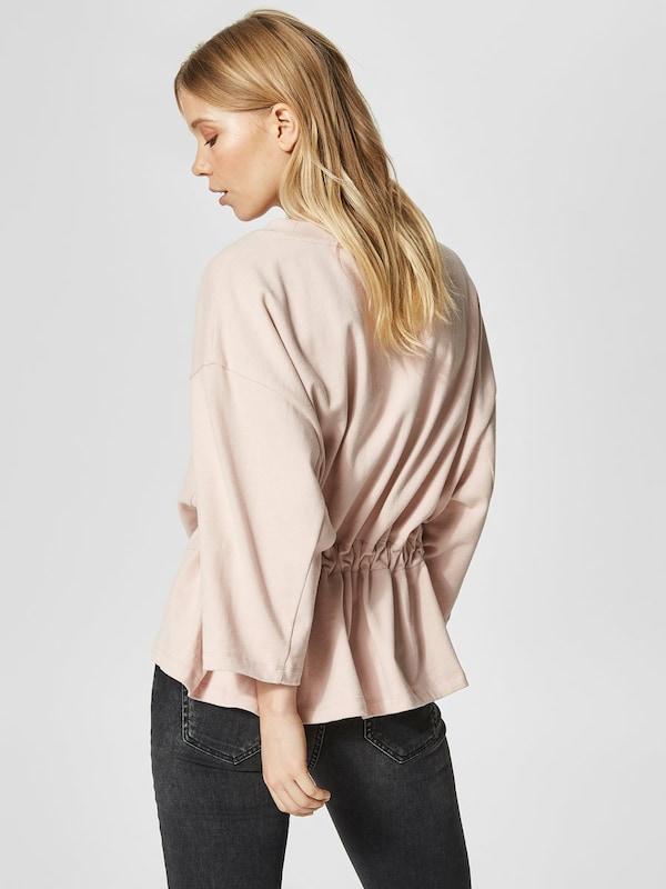 SELECTED FEMME Sweatshirt mit Peplum-Effekt