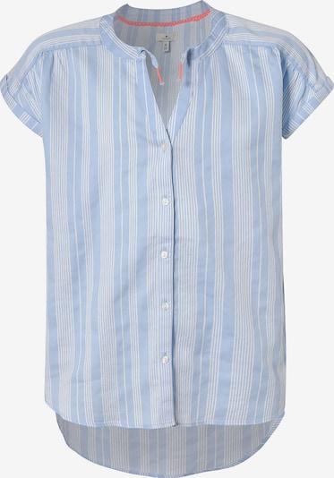 TOM TAILOR Bluse in hellblau / weiß, Produktansicht