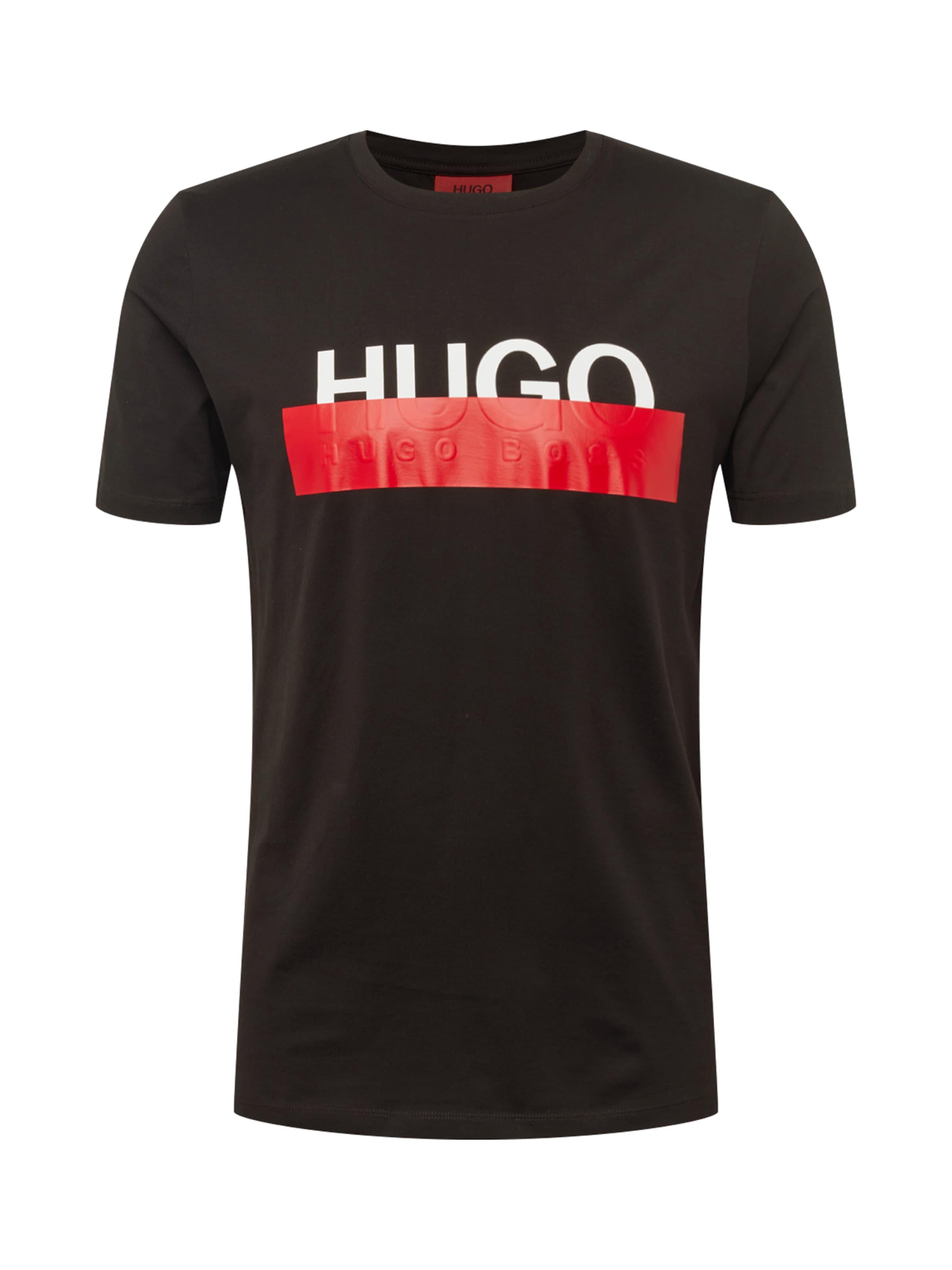 RotSchwarz Weiß Shirt In 'dolive' Hugo dxsQChrt