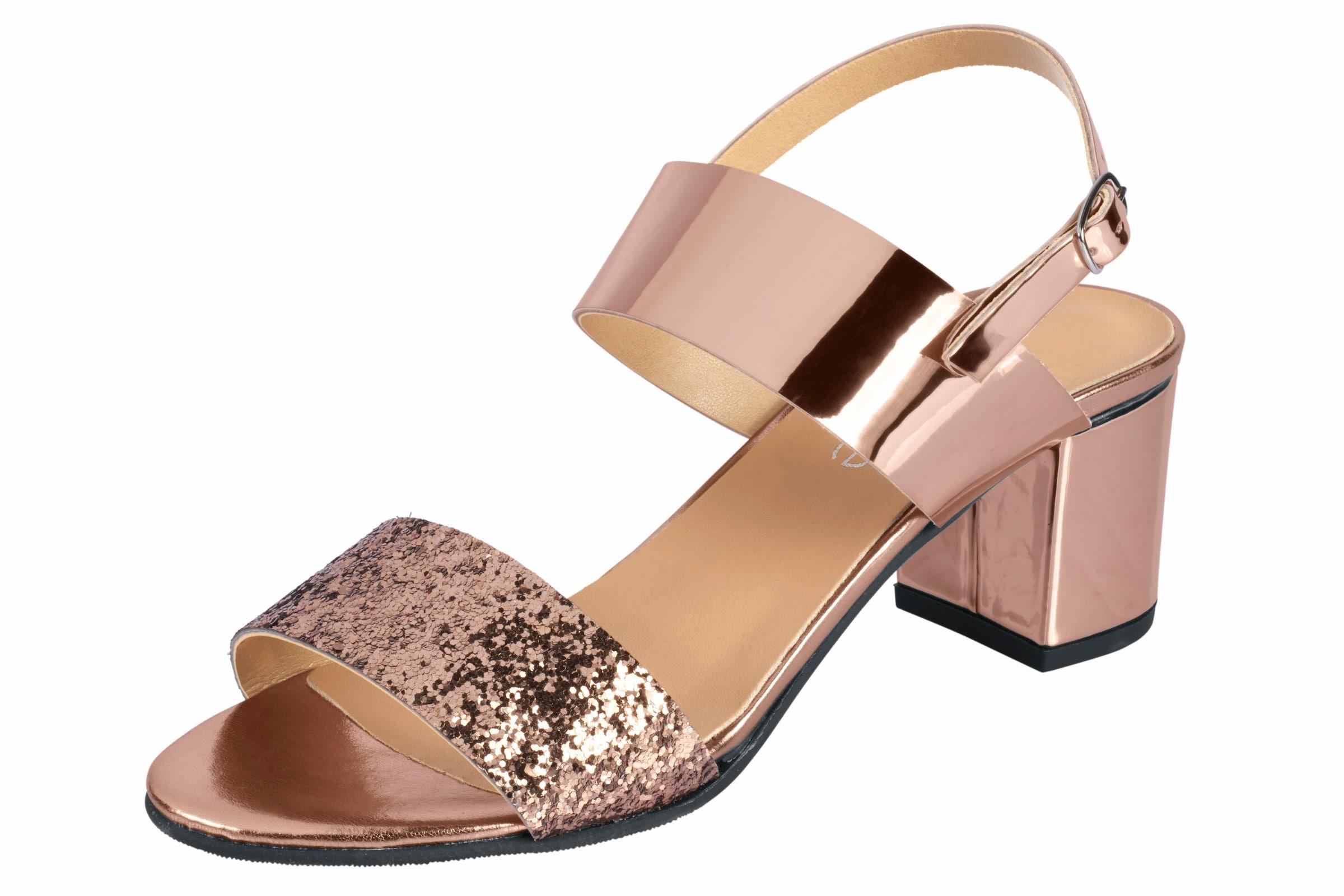 heine Sandalette mit Rüschen Günstige und langlebige Schuhe