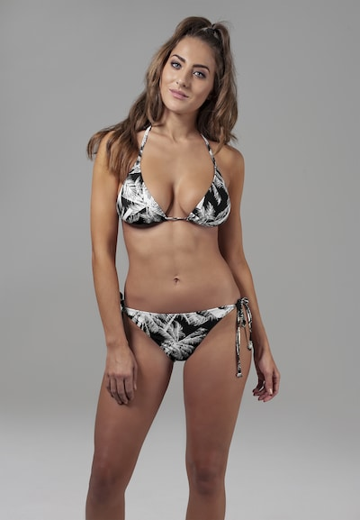 Urban Classics Bikini en noir / blanc, Vue avec modèle