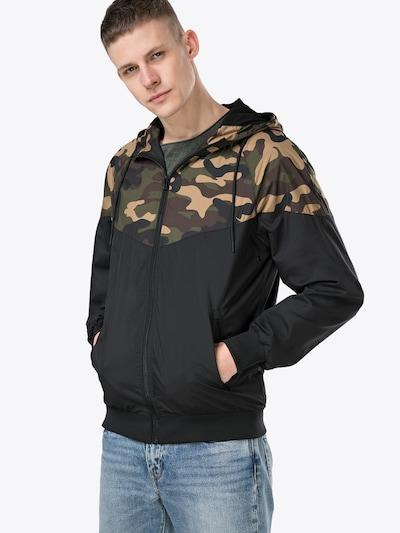 Urban Classics Jacke in braun / hellbraun / oliv / schwarz, Modelansicht