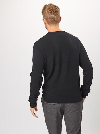 Megztinis 'SVENLAND' iš AMERICAN VINTAGE , spalva - juoda: Vaizdas iš galinės pusės