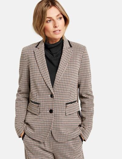 GERRY WEBER Blazer in braun / schwarz / weiß, Modelansicht