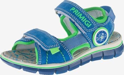 PRIMIGI Sandalen für Jungen in blau / neongrün, Produktansicht