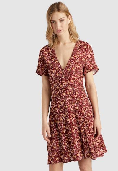 khujo Kleid 'Paca' in gelb / rot, Modelansicht