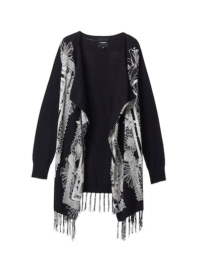 Geacă tricotată 'Oslo' Desigual pe negru / alb, Vizualizare produs
