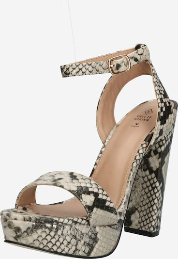 CALL IT SPRING High Heels 'HAAUDIA' in beige / schwarz / silber, Produktansicht