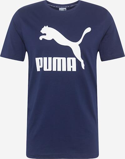 PUMA Functioneel shirt 'Classics Logo' in de kleur Donkerblauw / Wit, Productweergave
