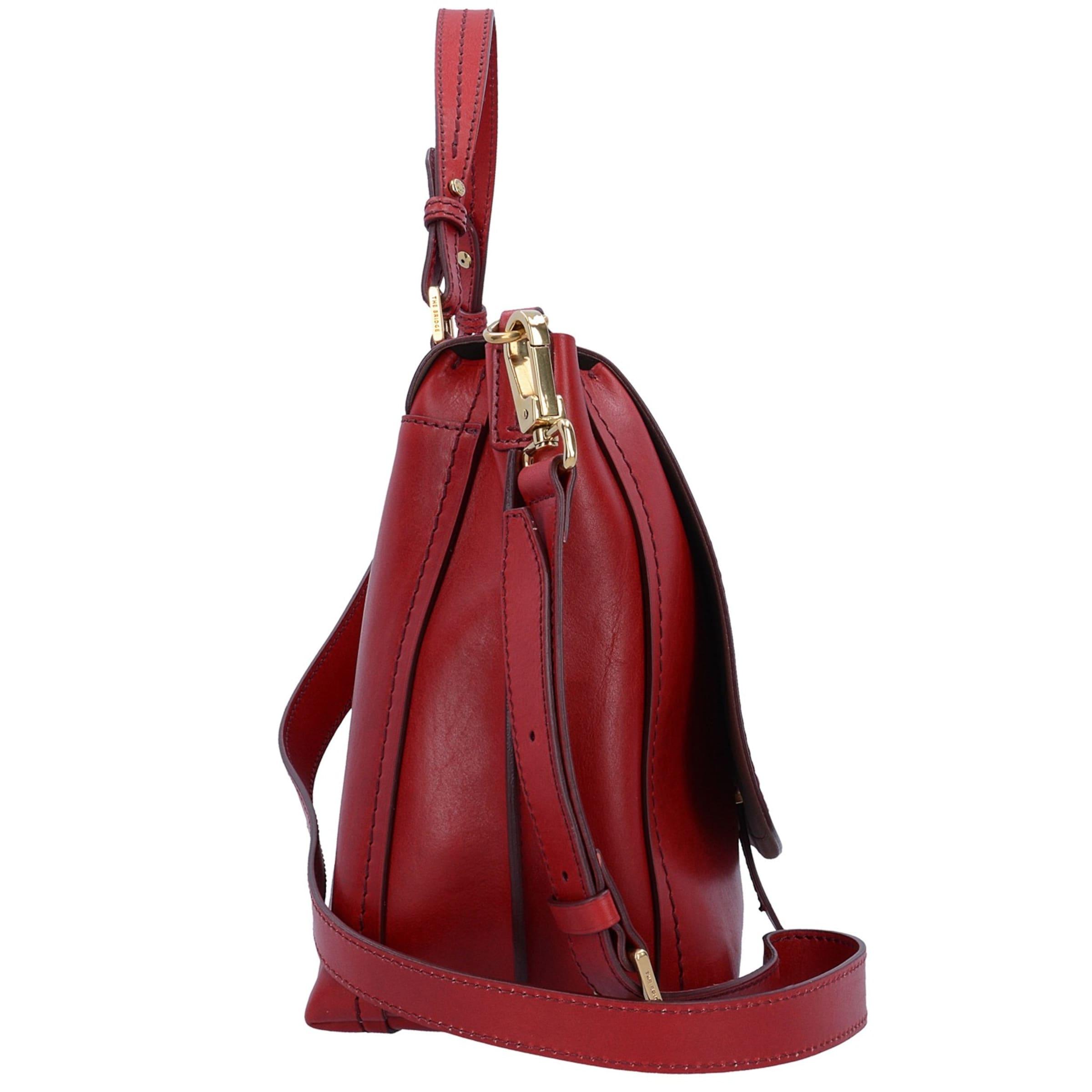 The In Bridge Leder Handtasche Rot Cm 37 Dalston CsQdhtr