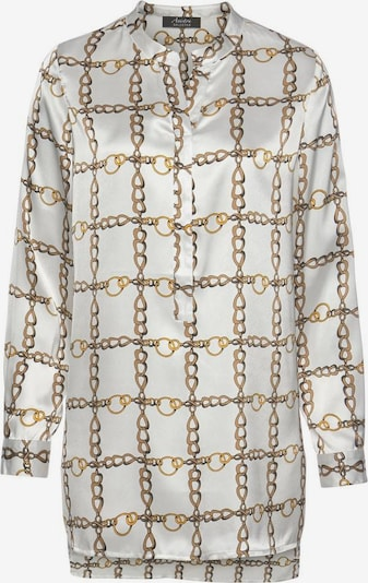 Aniston SELECTED Bluse in gold / offwhite, Produktansicht