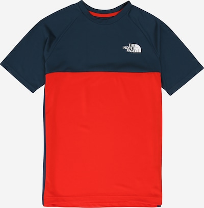 THE NORTH FACE Shirt 'REACTOR' in dunkelblau / rot / weiß, Produktansicht