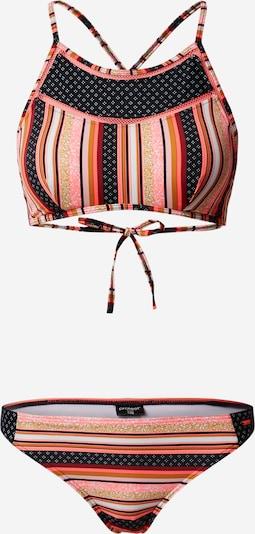PROTEST Bikinitop 'RIDDLE' in de kleur Karmijnrood / Zwart / Wit, Productweergave