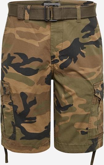 JACK & JONES Kargo hlače 'JJICHARLIE JJCARGO SHORTS AKM 803' | rjava / temno zelena barva, Prikaz izdelka
