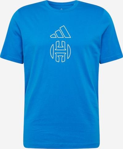 Sportiniai marškinėliai 'Harden Individuality' iš ADIDAS PERFORMANCE , spalva - mėlyna / neoninė geltona, Prekių apžvalga