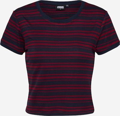 Urban Classics T-Shirt in navy / kirschrot, Produktansicht