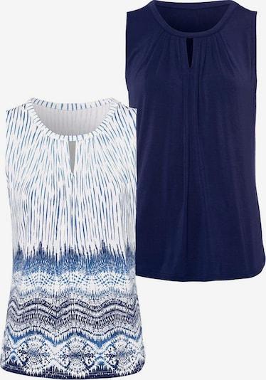 LASCANA Top in blau / weiß, Produktansicht