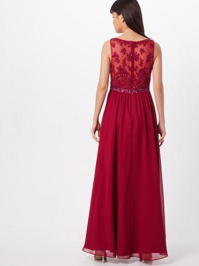 Laona Avondjurk in de kleur Rood: Achteraanzicht
