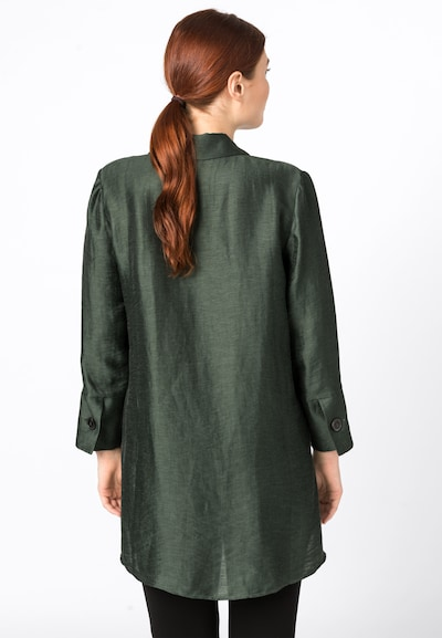 HALLHUBER Lang geschnittene Leinentunika in grün ...