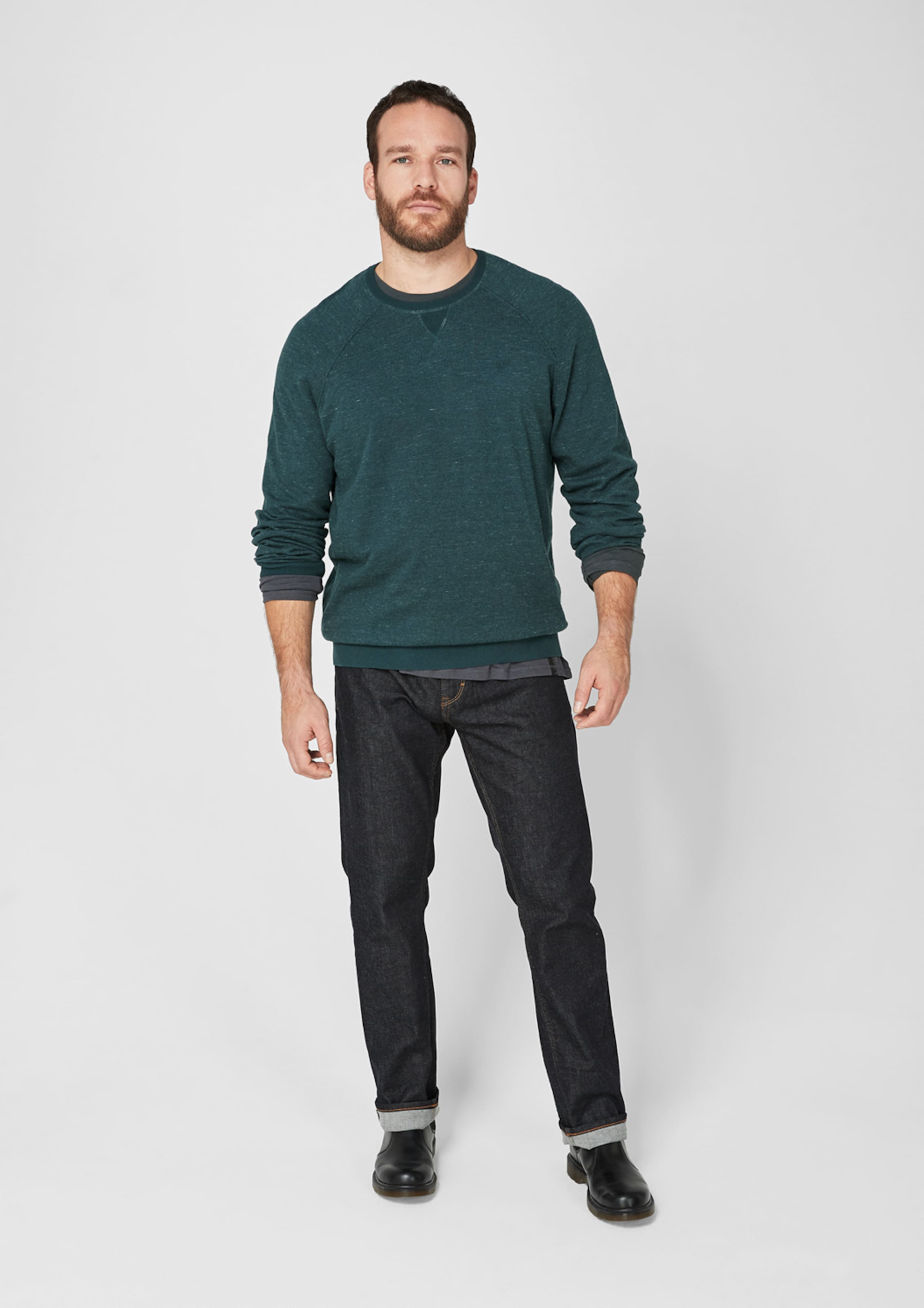 In Blaumeliert oliver S S Pullover oliver 29EHDeWIY
